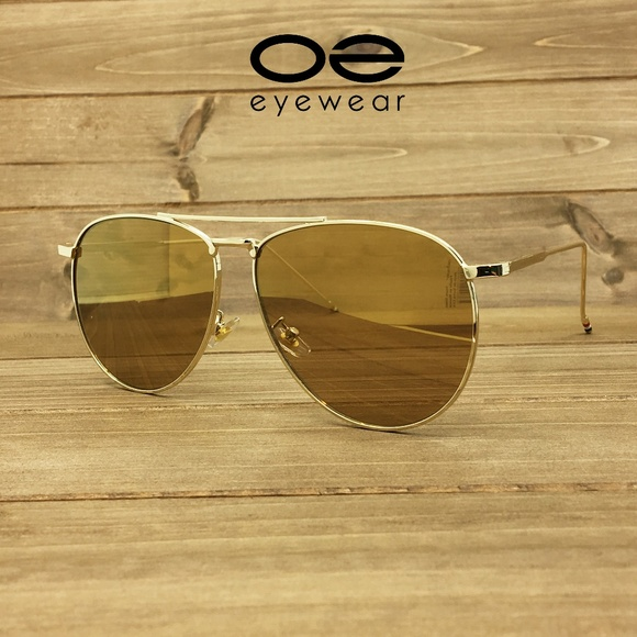 e0db10bc3f O2 Eyewear 97025 Oversized Flat Aviator Sunglasses
